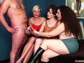 Three mature sluts demanding the cum
