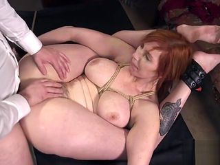 Busty chubby slave rough fucked