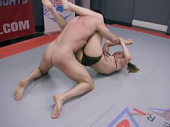 Cheyenne Jewel nude wrestling fight and fuck vs Lance Hart