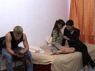 Romantic russian brunette lady Inus and bf enjoy hardcore