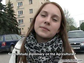 Nasty whores get horny talking outdoor