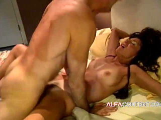 Horny babe isn't aware her hubby watches her cheating on him