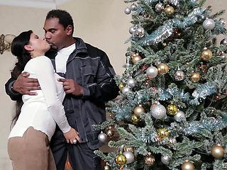 Superb Christmas surprise for this horny wife avid for the BBC