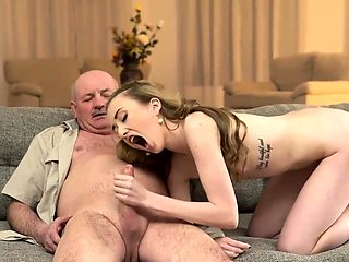 DADDY4K. Tricky dad seduces and fucks cutie while son...