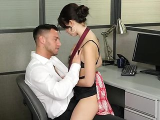 Porn video where handsome office worker fucks colleague's pussy