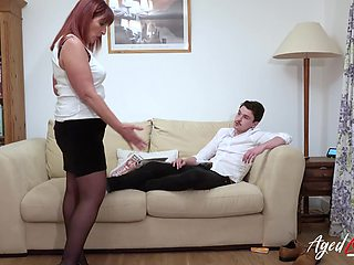 Sexy stepmom fucks her stepson after he refuses to clean the room