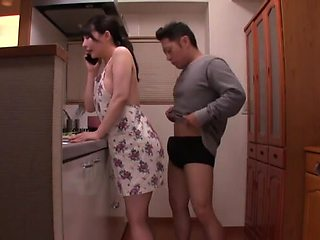 Gorgeous babe Akira Eri gets her tight cunt pounded in the kitchen