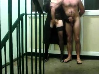 fucking around in the stairwell