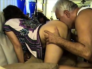 Horny mature wife gets her pussy toyed, licked and fucked