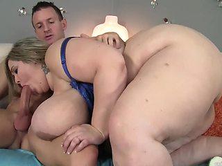 Fat ass mature sucks hard and fucks even better