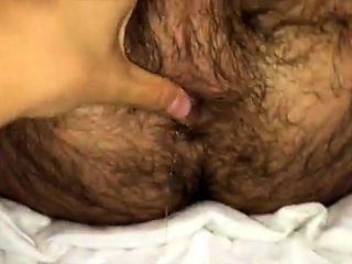 BB straight hairy guy's virgin ass