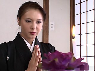 Widowed babe Yuki Tsukamoto gets filled up with loads of cum
