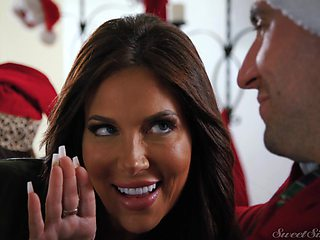 Chirstmas fucking with amazing pornstar Jane Wilde and her lover