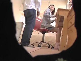 Spy cam video of beautiful Asian slapper doing various naughty stuff
