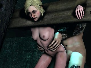 Helpless 3D babes get their pussies drilled deep and rough