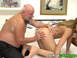 Revenge sex with old husband of teacher