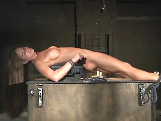 Teen Trapped in a Cage submitted to bondage and BDSM punish