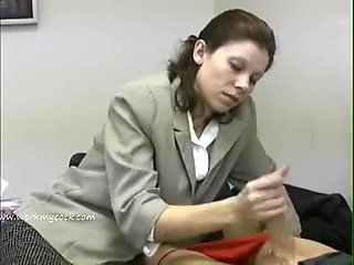 Office handjob