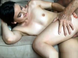 Stepdaughter fucks grandpa at home