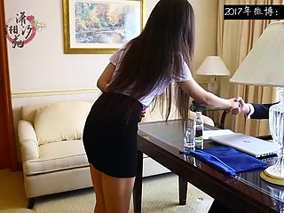Young Chinese Secretary Severely Spanked 02 (Purple Panty)