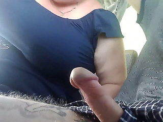 sucking cock on the bus and jerking off