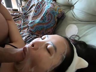 Helping my Cute Chinese girlfriend Whiten her face