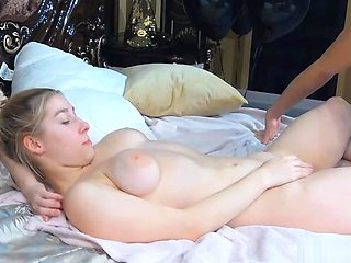 Blonde Babe Sucks On That Rock Hard Cock