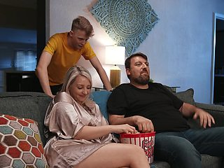 Passionate fucking ends with cum in mouth for blonde Charlotte Rayn