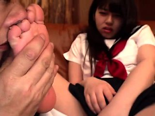 Flexible foot fetish masturbating with feet and hands
