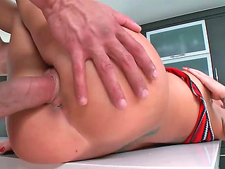 Busty emo bimbo gets her shaved wet hole drilled rough