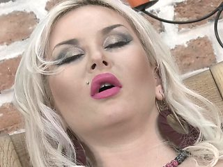 Dildo helps buxom Euro housewife forget about loneliness