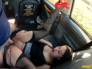Hot Slut In Red High Heels Takes A Dick In The Cab With Myla Elyse