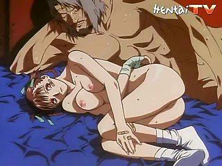 Two horny hentai studs fuck this naughty hentai chick