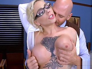 Blonde Schoolgirl wants the Dean's Cock