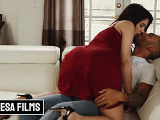 Romantic Couch Fuck With All Natural Busty Babe