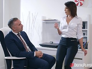 Sexretary Adriana Chechik makes her boss fully satisfied