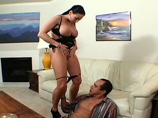 Naked females domination on stud in smothering clip