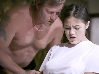 Old daddy fucks Asian stepdaughter Kendra Spade and feeds her with spunk