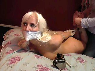 Hot nude babe bondage
