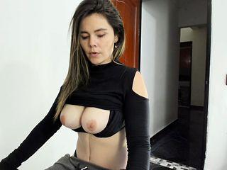Big ass dildo masturbate