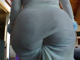 Several women with large asses are showing off their wet butts