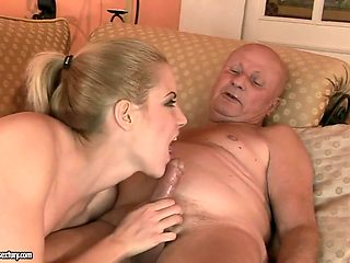 Old Baldhead Grandpa Is Gonna Fuck Teen Girl - 18 Years Old