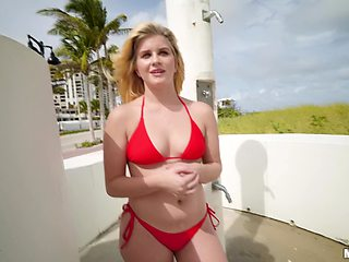 After sucking Taylor Blake is ready to jump on a dude's penis