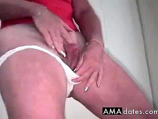 Huge clit rub in panties
