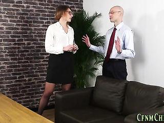 Office dominas tug sissy