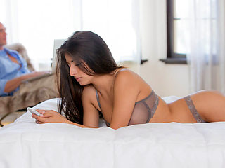 Amazingly hot babe Megan Salinas facial