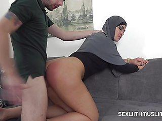 Hot Slacking muslim wife punished