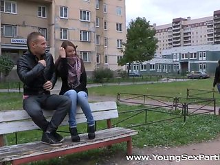Pleasing foursome legal age teenager fucking