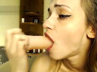 Skinny deepthroat gagging romanian camgirl facefuck dirty talk