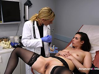 Horny gynecologist has sex with all her female clients